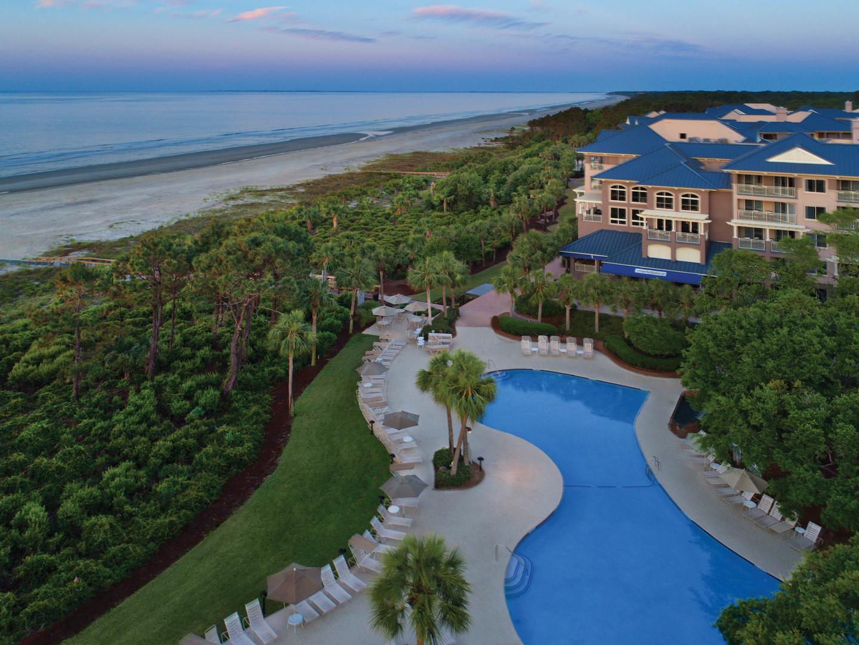Marriott's Grande Ocean Ariel Resort View. Marriott's Grande Ocean is located in Hilton Head Island, South Carolina United States.