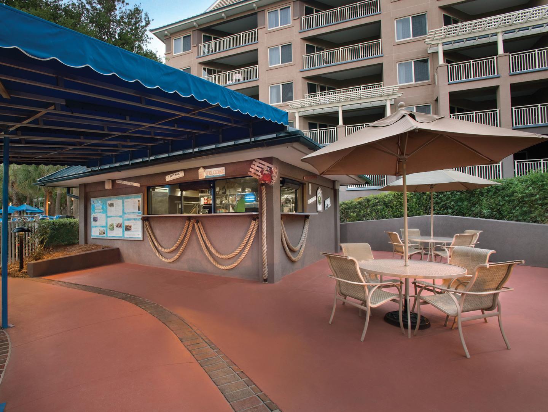 Marriott's Grande Ocean Dolphin Grille Restaurant. Marriott's Grande Ocean is located in Hilton Head Island, South Carolina United States.