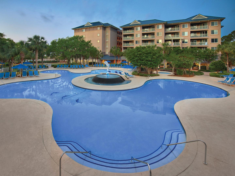 Marriott's Grande Ocean Dolphin Pool. Marriott's Grande Ocean is located in Hilton Head Island, South Carolina United States.