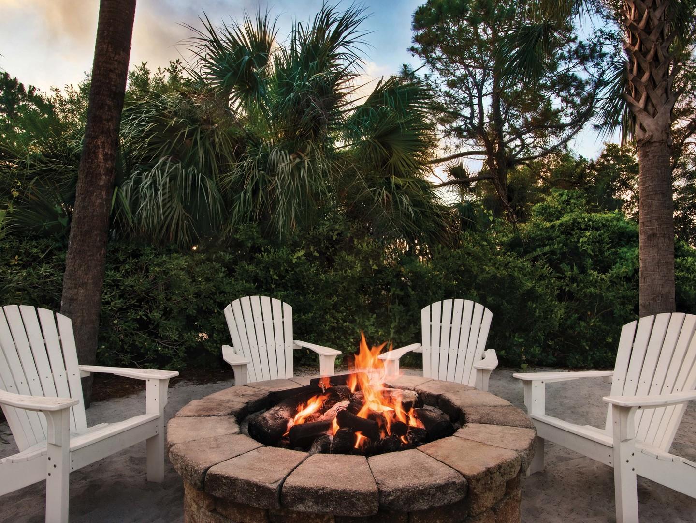 Marriott's Grande Ocean Fire Pit. Marriott's Grande Ocean is located in Hilton Head Island, South Carolina United States.