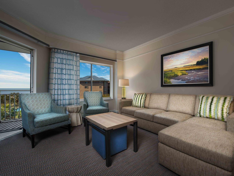 Marriott's Grande Ocean Villa Living Room. Marriott's Grande Ocean is located in Hilton Head Island, South Carolina United States.