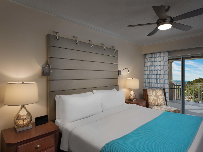 Marriott's Grande Ocean Villa Master Bedroom. Marriott's Grande Ocean is located in Hilton Head Island, South Carolina United States.