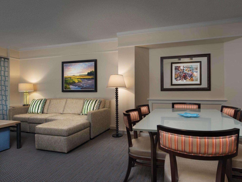 Marriott's Grande Ocean Villa Living Room/Dining Room. Marriott's Grande Ocean is located in Hilton Head Island, South Carolina United States.