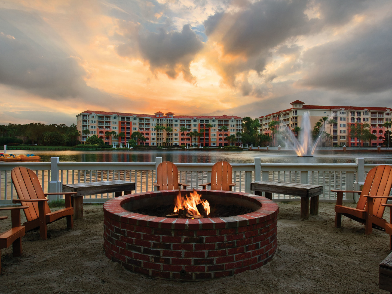 Marriott's Grande Vista Fire Pit/Lake View. Marriott's Grande Vista is located in Orlando, Florida United States.