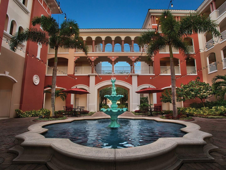 Marriott's Grande Vista Courtyard/Fountain. Marriott's Grande Vista is located in Orlando, Florida United States.