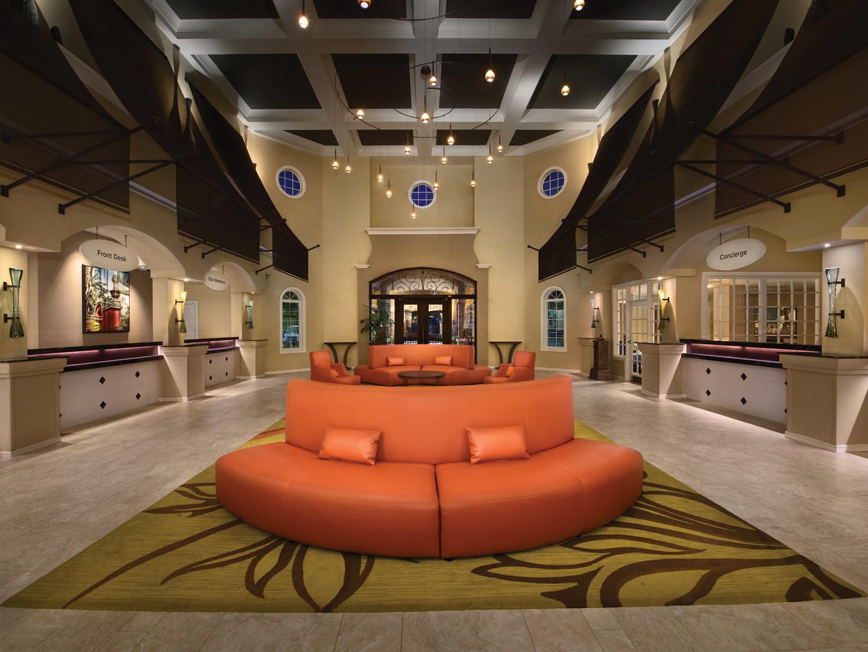 Marriott's Grande Vista Lobby. Marriott's Grande Vista is located in Orlando, Florida United States.