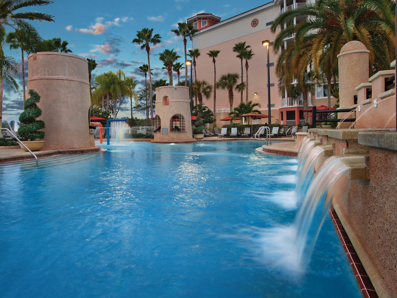 Marriott's Grande Vista Plaza del Sol Pool/Fountains. Marriott's Grande Vista is located in Orlando, Florida United States.