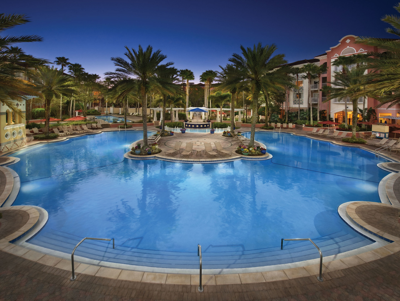 Marriott's Grande Vista Village Center Pool. Marriott's Grande Vista is located in Orlando, Florida United States.