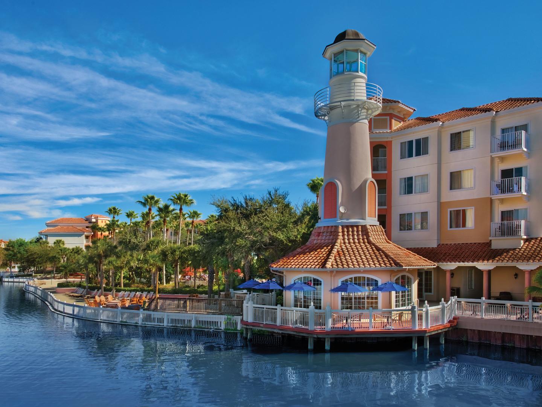 Marriott's Grande Vista The Sweetery Ice Cream Shop/Lighthouse. Marriott's Grande Vista is located in Orlando, Florida United States.
