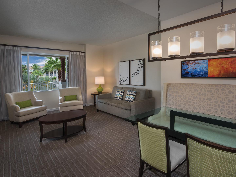 Marriott's Grande Vista Villa Living Room/Dining Room. Marriott's Grande Vista is located in Orlando, Florida United States.