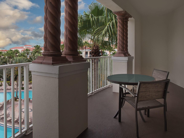 Marriott's Grande Vista Villa Balcony. Marriott's Grande Vista is located in Orlando, Florida United States.