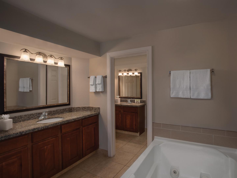 Marriott's Grande Vista Villa Master Bathroom. Marriott's Grande Vista is located in Orlando, Florida United States.