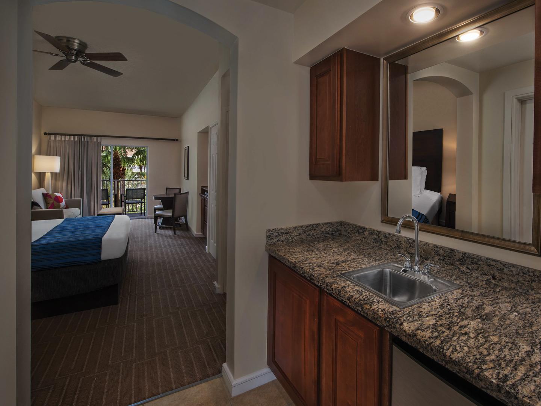 Marriott's Grande Vista Villa Guest Kitchenette/Bedroom. Marriott's Grande Vista is located in Orlando, Florida United States.