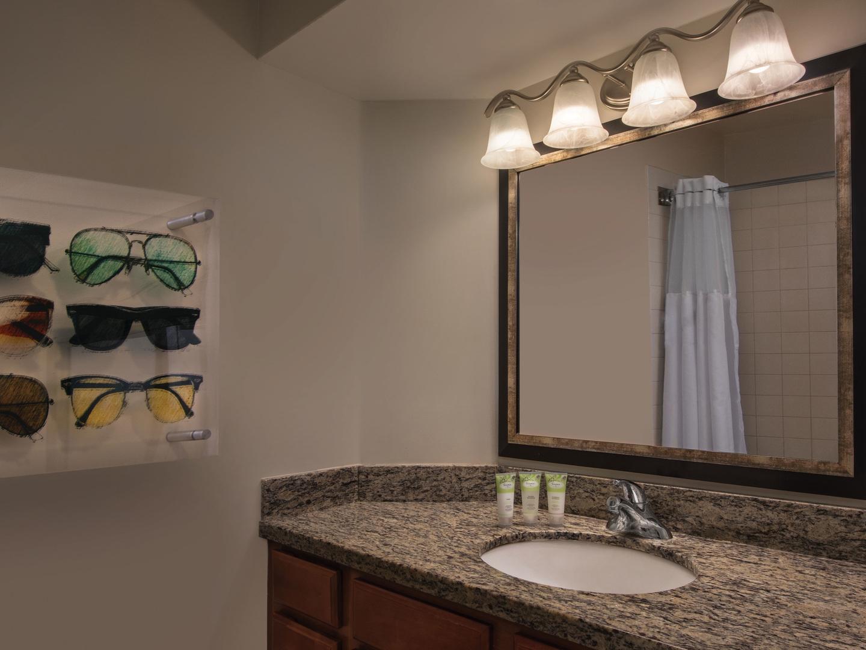 Marriott's Grande Vista Villa Guest Bathroom. Marriott's Grande Vista is located in Orlando, Florida United States.
