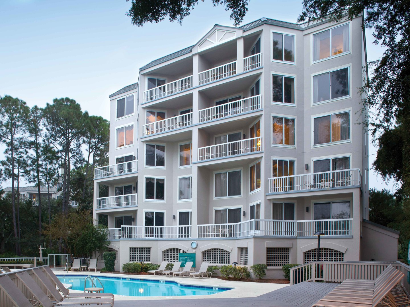 Marriott's Harbour Club Exterior/Pool. Marriott's Harbour Club is located in Hilton Head Island, South Carolina United States.