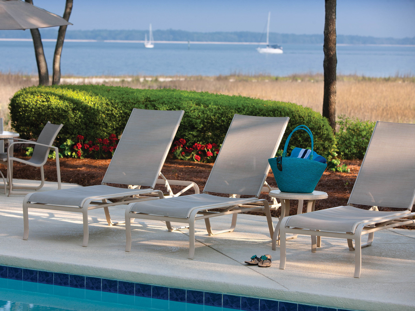 Marriott's Harbour Club Pool/Water View. Marriott's Harbour Club is located in Hilton Head Island, South Carolina United States.