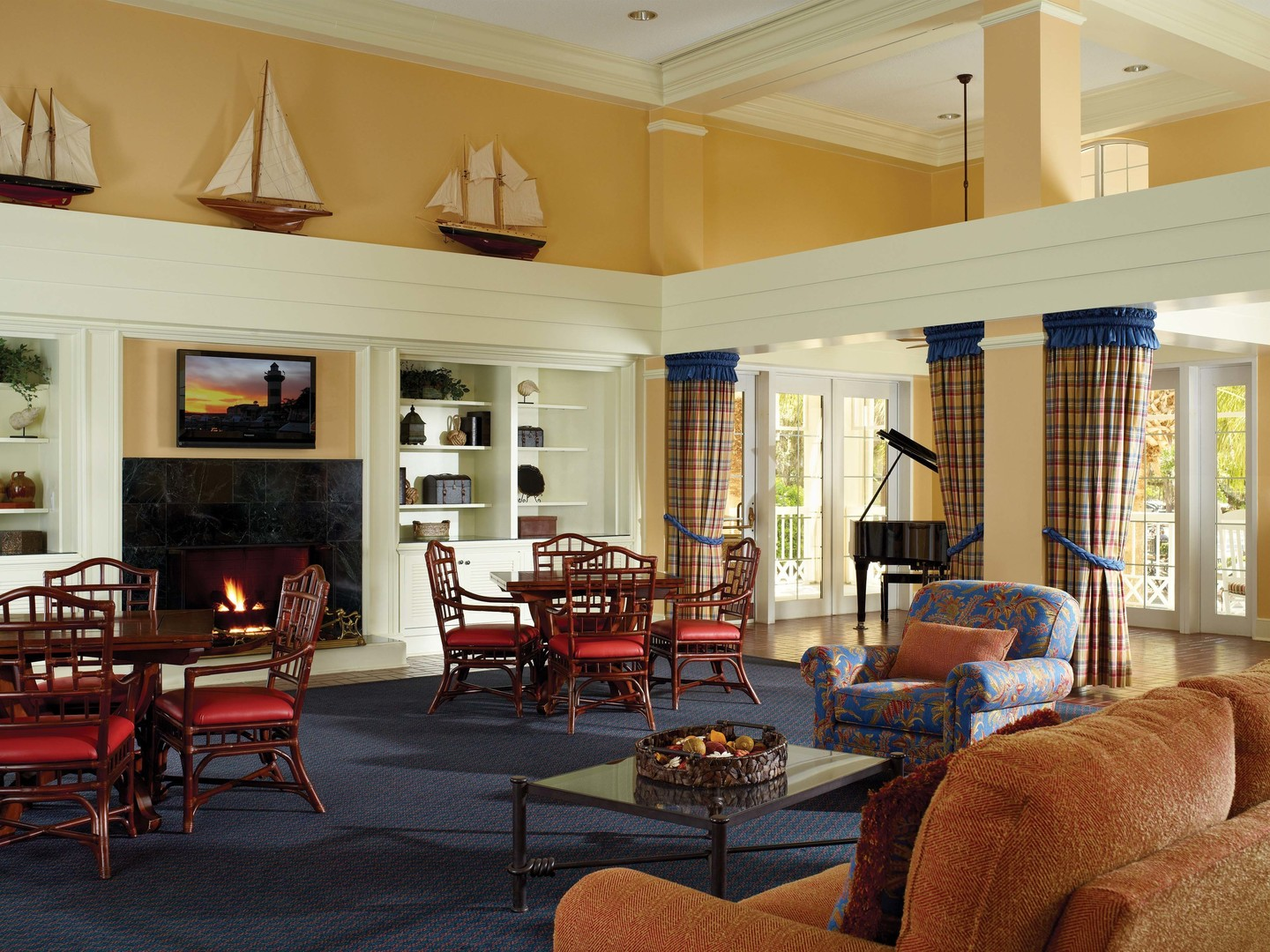 Marriott's Harbour Club Lobby. Marriott's Harbour Club is located in Hilton Head Island, South Carolina United States.