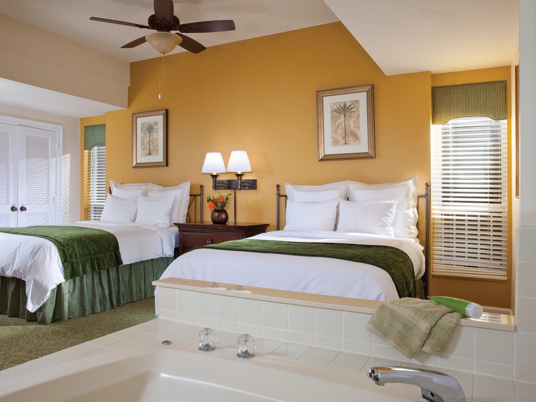 Marriott's Harbour Club Villa Guest Bedroom. Marriott's Harbour Club is located in Hilton Head Island, South Carolina United States.