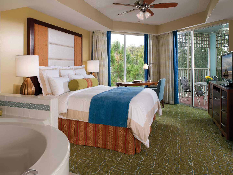 Marriott's Imperial Palms Villa Master Bedroom. Marriott's Imperial Palms is located in Orlando, Florida United States.
