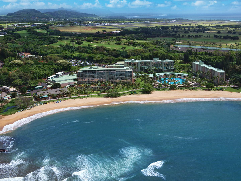 Marriott's Kaua'i Beach Club Aerial View of Resort/Beach. Marriott's Kaua'i Beach Club is located in Līhuʻe, Kaua'i, Hawai'i United States.