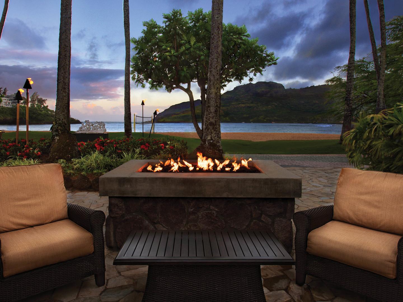 Marriott's Kaua'i Beach Club Fire Pit/Sunset View. Marriott's Kaua'i Beach Club is located in Līhuʻe, Kaua'i, Hawai'i United States.
