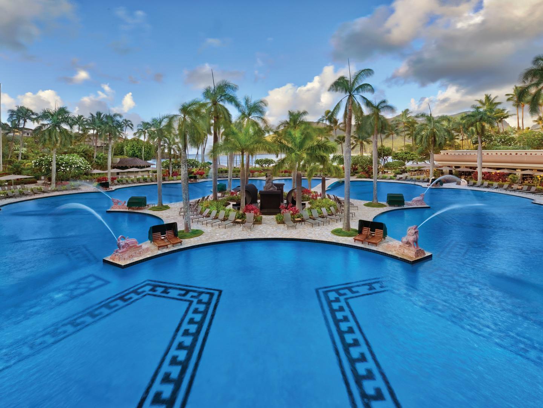 Marriott's Kaua'i Beach Club Main Pool. Marriott's Kaua'i Beach Club is located in Līhuʻe, Kaua'i, Hawai'i United States.