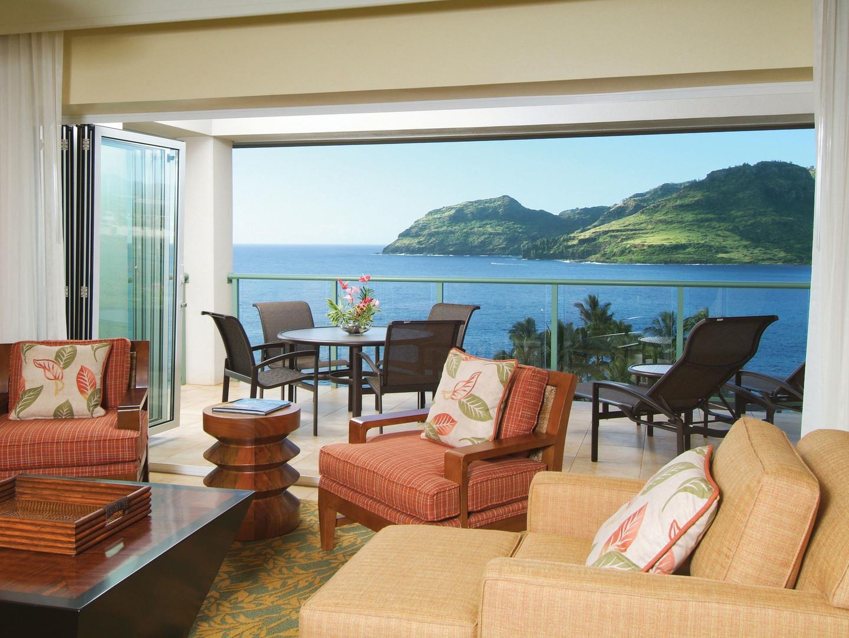 Marriott's Kaua'i Lagoons – Kalanipu'u Villa Living Room/Balcony. Marriott's Kaua'i Lagoons – Kalanipu'u is located in Līhuʻe, Kaua'i, Hawai'i United States.