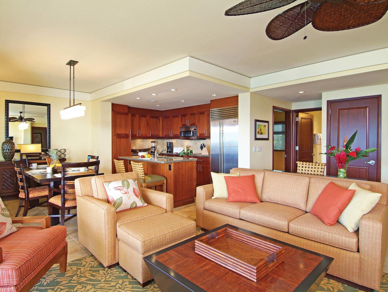 Marriott's Kaua'i Lagoons – Kalanipu'u Villa Living Room/Kitchen. Marriott's Kaua'i Lagoons – Kalanipu'u is located in Līhuʻe, Kaua'i, Hawai'i United States.