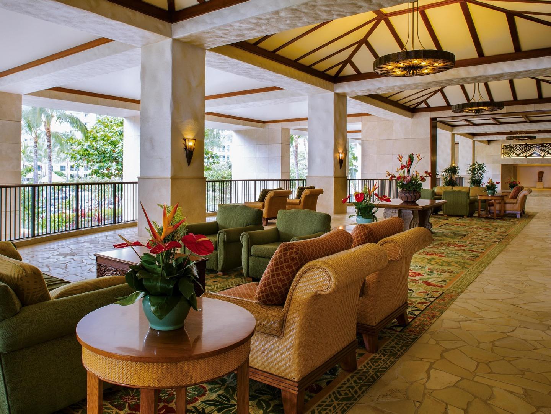 Marriott's Ko Olina Beach Club Lobby. Marriott's Ko Olina Beach Club is located in Kapolei, O'ahu, Hawai'i United States.