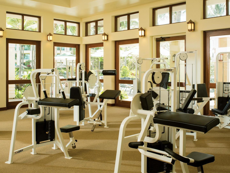 Marriott's Ko Olina Beach Club Fitness Center. Marriott's Ko Olina Beach Club is located in Kapolei, O'ahu, Hawai'i United States.