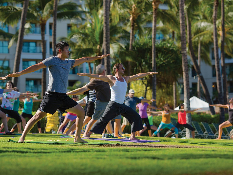 Marriott's Ko Olina Beach Club Activities/Yoga. Marriott's Ko Olina Beach Club is located in Kapolei, O'ahu, Hawai'i United States.