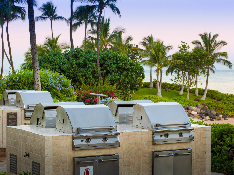 Marriott's Ko Olina Beach Club Grills Area. Marriott's Ko Olina Beach Club is located in Kapolei, O'ahu, Hawai'i United States.