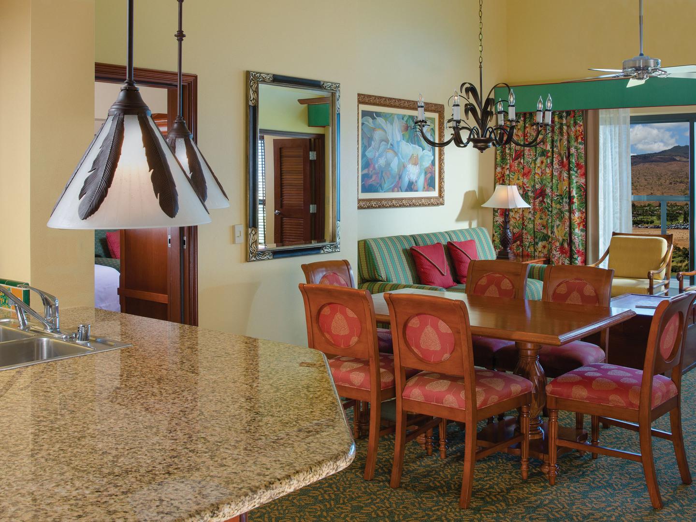 Marriott's Ko Olina Beach Club Dining Room/Living Room (Moana Villa). Marriott's Ko Olina Beach Club is located in Kapolei, O'ahu, Hawai'i United States.