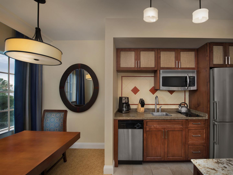 Marriott's Lakeshore Reserve Villa Kitchen/Dining Room. Marriott's Lakeshore Reserve is located in Orlando, Florida United States.