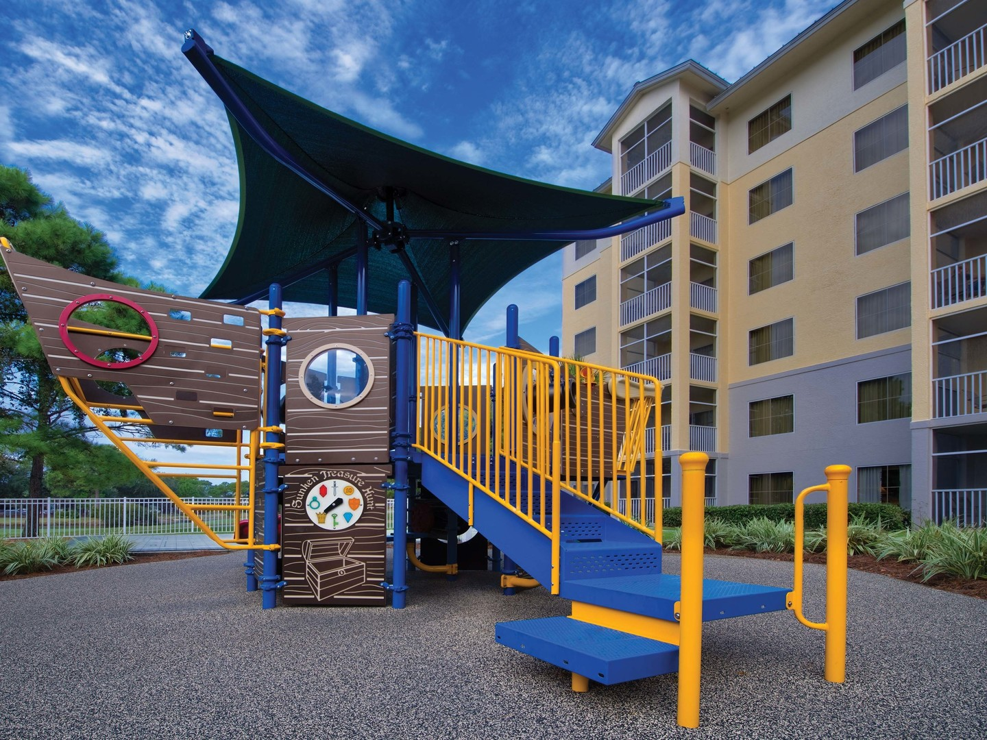 Marriott's Legends Edge at Bay Point Children's Playground. Marriott's Legends Edge at Bay Point is located in Panama City, Florida United States.