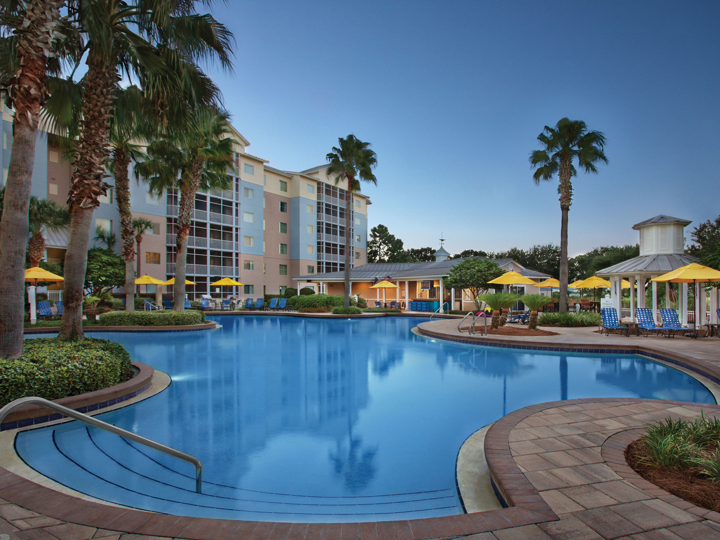Marriott's Legends Edge at Bay Point Lagoon Pool. Marriott's Legends Edge at Bay Point is located in Panama City, Florida United States.
