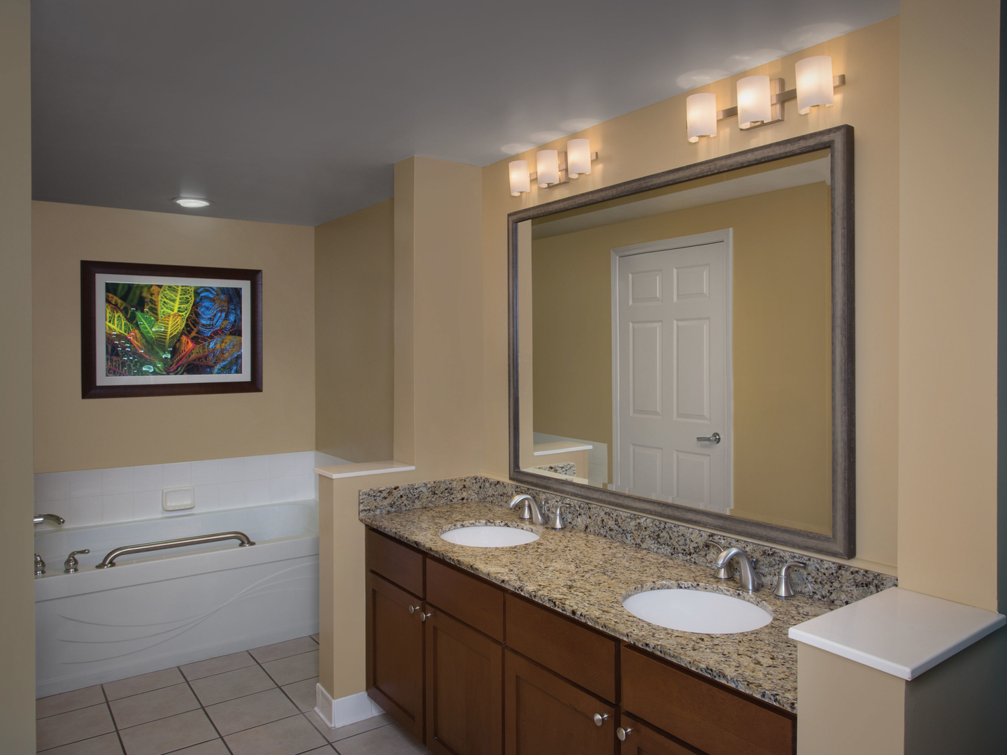 Marriott's Legends Edge at Bay Point Villa Master Bathroom. Marriott's Legends Edge at Bay Point is located in Panama City, Florida United States.