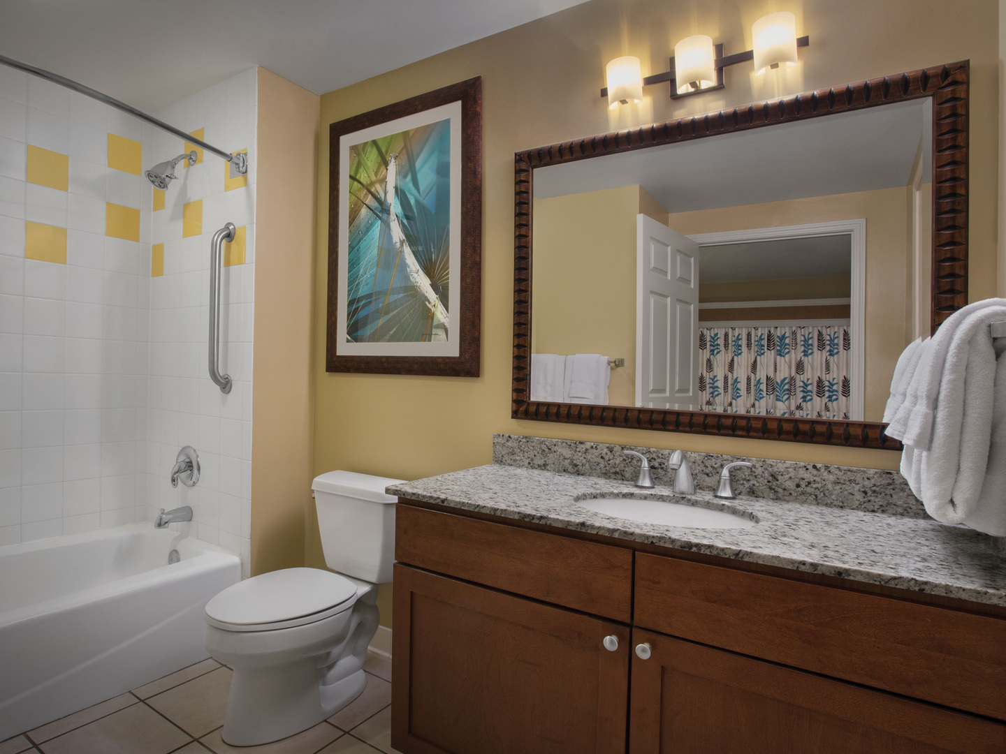 Marriott's Legends Edge at Bay Point Villa Guest Bathroom. Marriott's Legends Edge at Bay Point is located in Panama City, Florida United States.