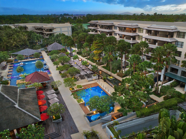 Marriott's Mai Khao Beach — Phuket Aerial View of Resort. Marriott's Mai Khao Beach — Phuket is located in Mai Khao, Talang, Phuket Thailand.