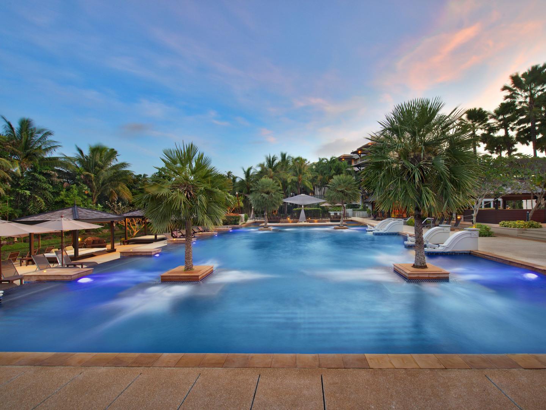 Marriott's Mai Khao Beach — Phuket Aerial View of Resort Main Pool. Marriott's Mai Khao Beach — Phuket is located in Mai Khao, Talang, Phuket Thailand.