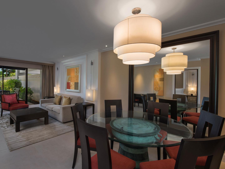 Marriott's Mai Khao Beach — Phuket Apartment Living Room/Dining Room. Marriott's Mai Khao Beach — Phuket is located in Mai Khao, Talang, Phuket Thailand.