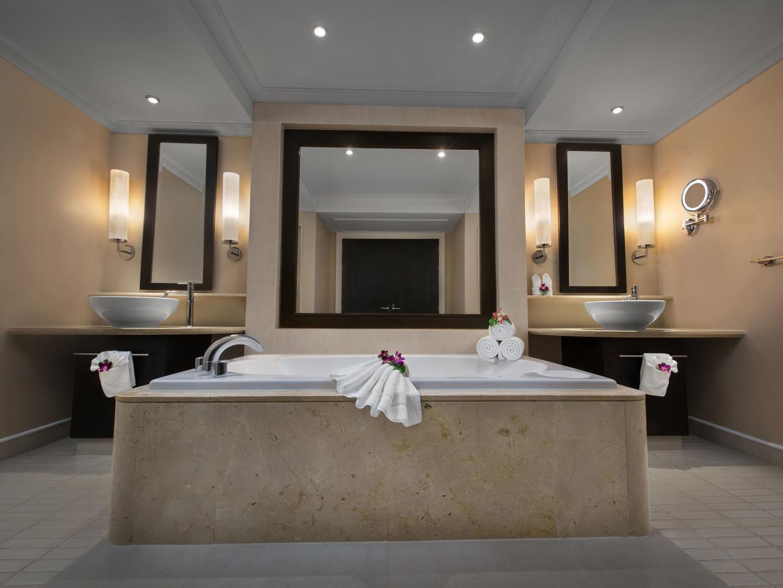 Marriott's Mai Khao Beach — Phuket Apartment Master Bathroom. Marriott's Mai Khao Beach — Phuket is located in Mai Khao, Talang, Phuket Thailand.