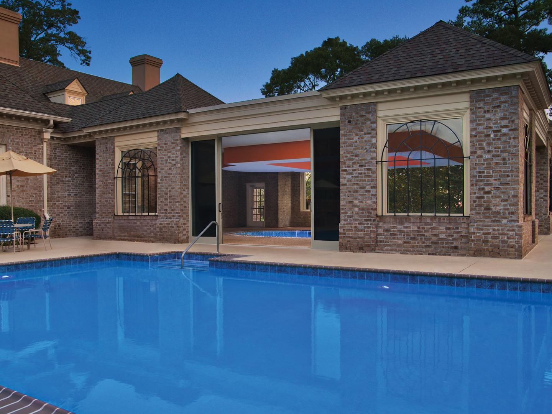 Marriott's Manor Club Side Pool. Marriott's Manor Club is located in Williamsburg, Virginia United States.