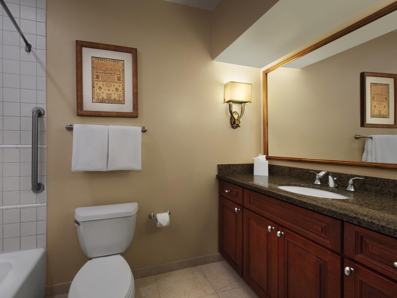 Marriott's Manor Club Villa Guest Bathroom. Marriott's Manor Club is located in Williamsburg, Virginia United States.
