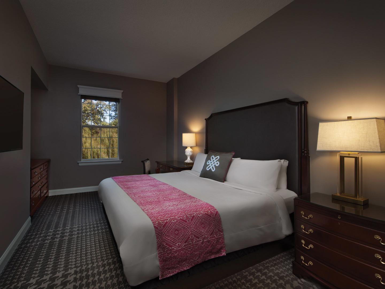 Marriott's Manor Club 2-Bedroom Villa Master Bedroom. Marriott's Manor Club is located in Williamsburg, Virginia United States.