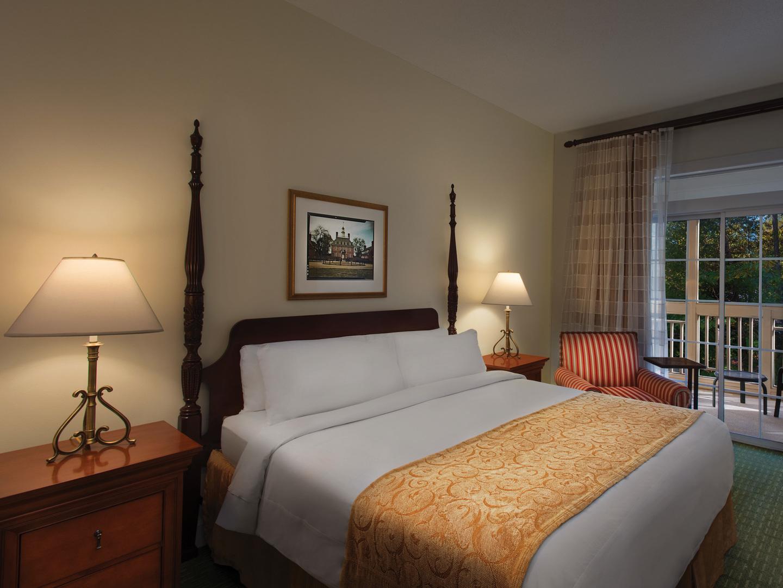 Marriott's Manor Club 1-Bedroom Villa Master Bedroom. Marriott's Manor Club is located in Williamsburg, Virginia United States.