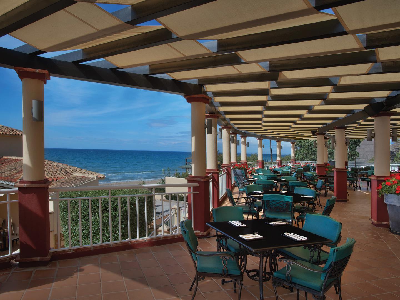 Marriott's Marbella Beach Resort El Med Outdoor Patio. Marriott's Marbella Beach Resort is located in Marbella,  Spain.