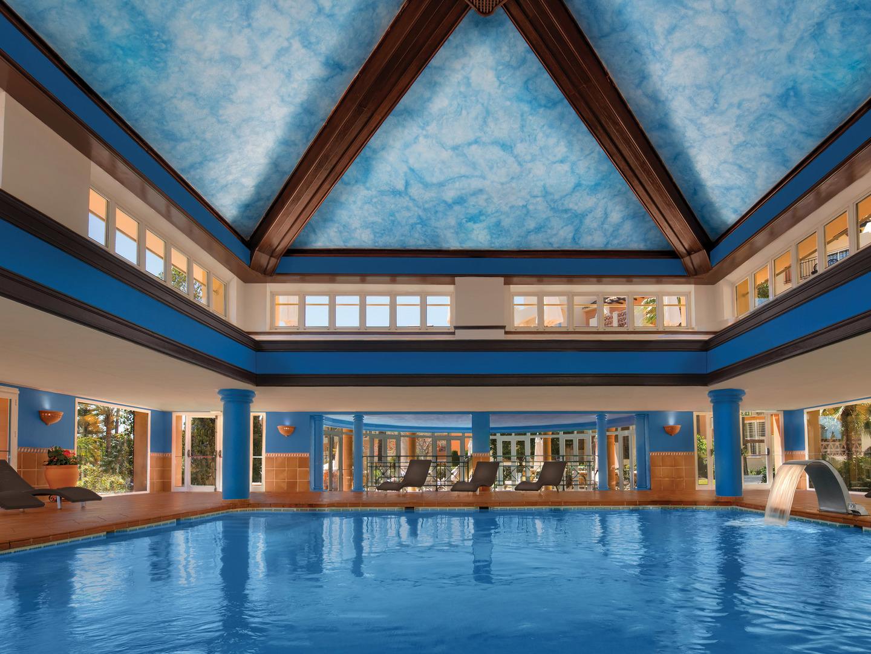 Marriott's Marbella Beach Resort Indoor Pool. Marriott's Marbella Beach Resort is located in Marbella,  Spain.