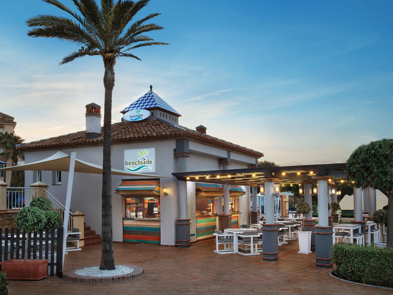 Marriott's Marbella Beach Resort Beachside Bar. Marriott's Marbella Beach Resort is located in Marbella,  Spain.