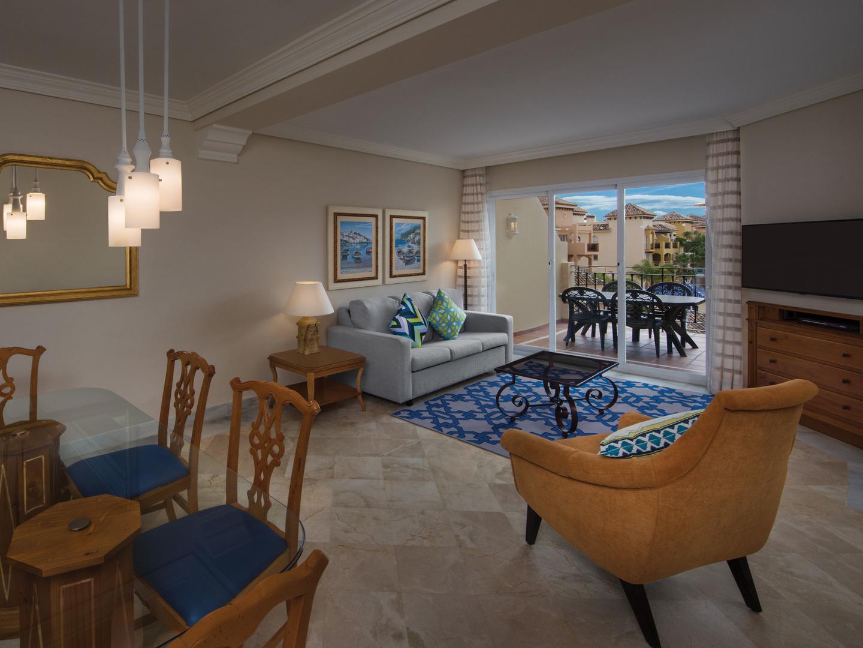 Marriott's Marbella Beach Resort Villa Living Room. Marriott's Marbella Beach Resort is located in Marbella,  Spain.